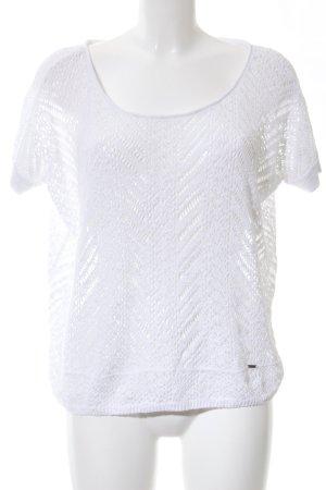 Hollister Transparenz-Bluse weiß Casual-Look