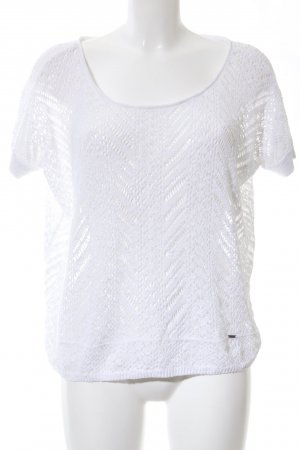 Hollister Transparenz-Bluse weiß Casual-Look