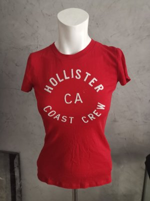 Hollister Tshirt in rot Gr XS
