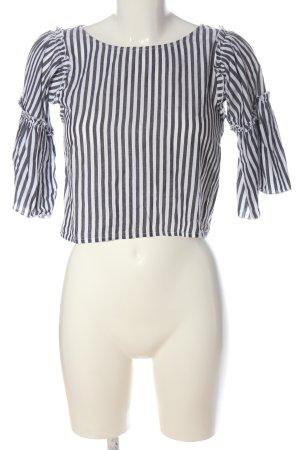 Hollister Boothalsshirt zwart-wit gestreept patroon casual uitstraling