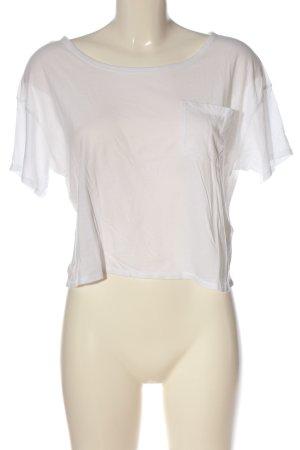 Hollister Koszulka z dekoltem w łódkę biały W stylu casual