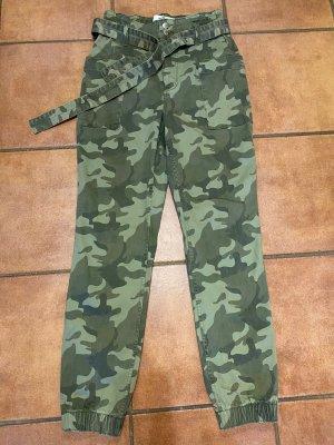 Hollister Pantalón de camuflaje multicolor Algodón