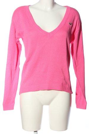 Hollister V-Ausschnitt-Pullover pink Casual-Look