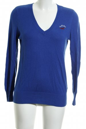 Hollister V-Ausschnitt-Pullover blau Casual-Look