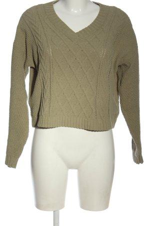 Hollister V-Ausschnitt-Pullover khaki Casual-Look