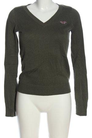 Hollister V-Neck Sweater khaki casual look