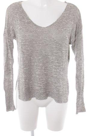 Hollister V-Ausschnitt-Pullover meliert Casual-Look