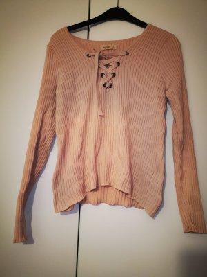 Hollister V-Ausschnitt Pullover rosa