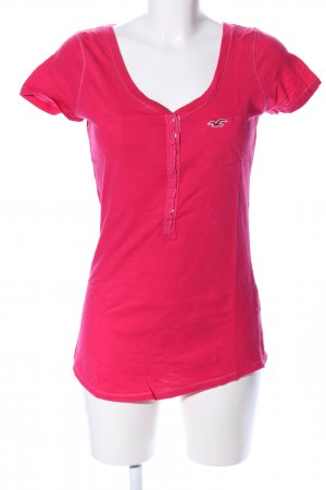 Hollister V-Ausschnitt-Shirt rot Casual-Look