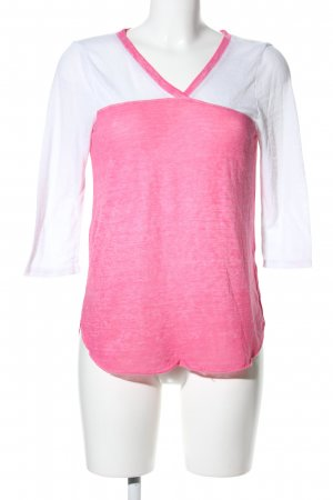 Hollister V-Neck Shirt pink-white flecked casual look