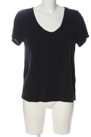 Hollister V-Ausschnitt-Shirt schwarz Casual-Look