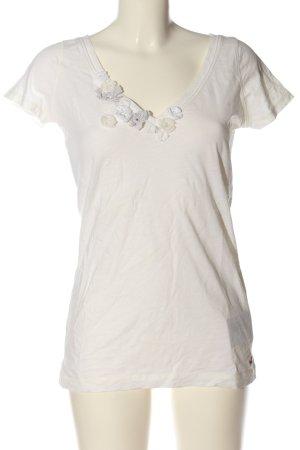 Hollister Koszulka z dekoltem w kształcie litery V biały W stylu casual