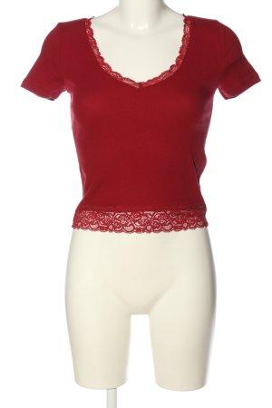Hollister Chemise côtelée rouge style décontracté