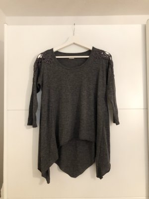 Hollister Cowl-Neck Top grey