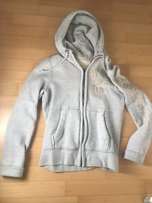 Hollister Hooded Vest silver-colored cotton