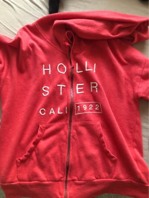 Hollister Hooded Vest bright red-salmon
