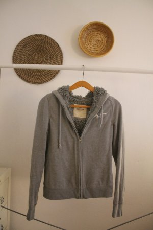 Hollister Hooded Vest grey-silver-colored