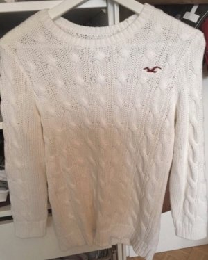 Hollister Coarse Knitted Sweater white