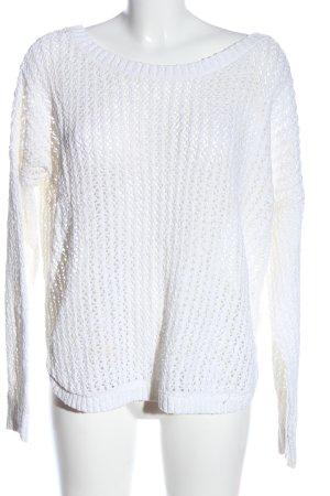 Hollister Jersey trenzado blanco punto trenzado look casual