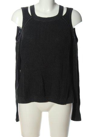 Hollister Warkoczowy sweter czarny W stylu casual