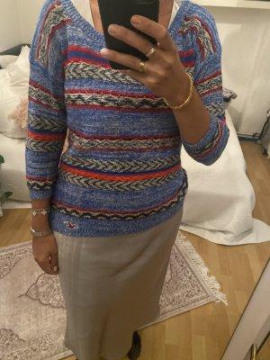 Holliszer Pullover M blau rot