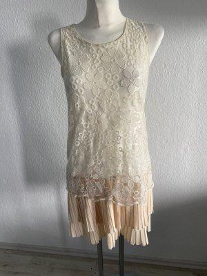 Holly Bracken Sommerkleid Creme spitze 36 Audrey Hepburn
