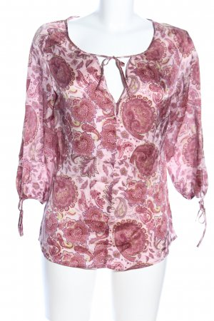 Holly Golightly Tunikabluse pink-creme Allover-Druck Casual-Look