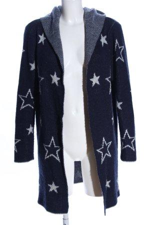 holly's Cardigan blau-hellgrau Allover-Druck Casual-Look