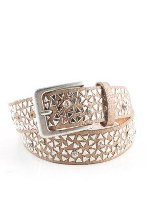 holly's Cintura borchiata crema-argento elegante