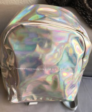 1 NY tee School Backpack silver-colored lyocell