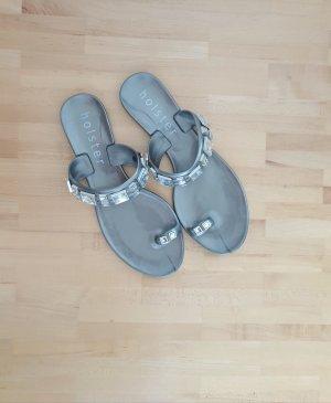 Holster Sandały plażowe srebrny-szary
