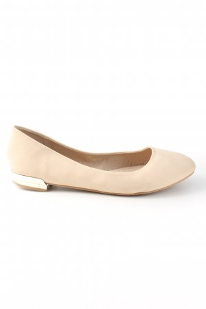 Lackballerinas creme Casual-Look