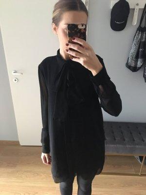 Holy Long- Bluse Schwarz mit Schleife