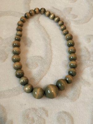 Holz -Perlenkette