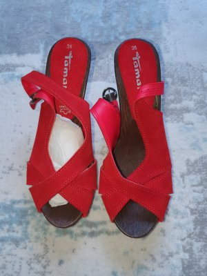 Tamaris Klompen rood