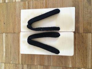 Entre-doig à talon haut noir-blanc bois