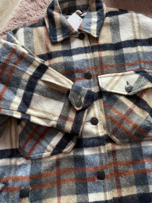 Holzfäller Oversize Überhemd XS Damen neu Zara kuschelig braun blau beige Creme