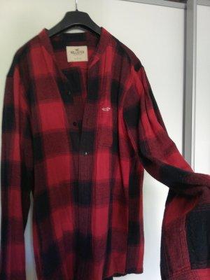 Hollister Flannel Shirt black-brick red