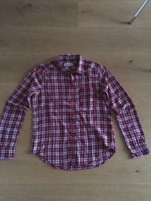 Hollister Lumberjack Shirt carmine-white