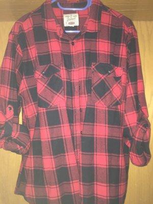 Houthakkershemd zwart-karmijn