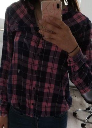 Holzfällerhemd blau-rosa kariert