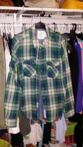 holzfällerhemd gr 36 grünblau