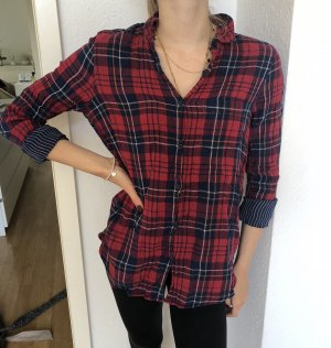 H&M Koszula w kratę głęboka czerwień-niebieski