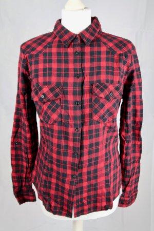 Tally Weijl Camisa de leñador negro-rojo oscuro