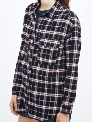 BGD Urban Outfitters Flanelowa koszula głęboka czerwień-ciemnoniebieski