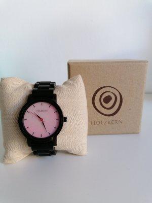 Holzkern Analog Watch dark brown-pink