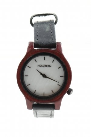 Holzkern Watch With Leather Strap red-black casual look