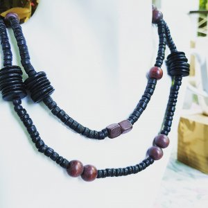 Pearl Necklace black-brown