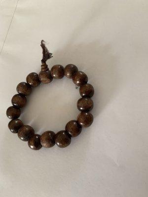 Bracelet en perles brun-brun foncé