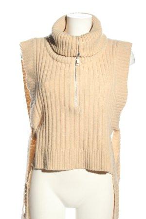 HOLZWEILER Sweter bez rękawów z cienkiej dzianiny nude W stylu casual
